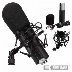 Microfone Condensador Cardióide C/ Proteção HQ POWER - (HQMC10001)