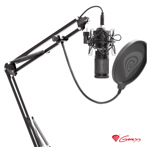 Microfone Condensador P/ PC Gaming RADIUM 400 GENESIS - (NGM-1377)