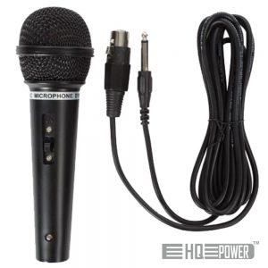 Microfone Dinâmico C/ Cabo 80hz-12khz 3m HQ POWER - (HQMC10005)