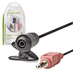 Microfone Lapela P/ Pc Jack 3.5mm - (MICCJ100BK)