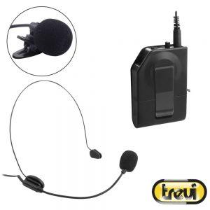 Microfone S/ Fios C/ Transmissor Preto TREVI - (EM408R)