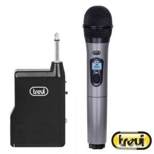 Microfone S/ Fios Unidirecional Cinza TREVI - (EM401R)