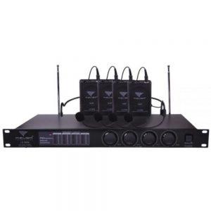 Central 4 Microfones Cabeça S/ Fios VHF - (MIK2028C)