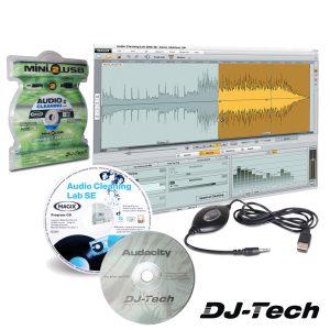 Conversor Áudio Analógico P/ Digital Jack / USB DJ-Tech - (MINI2USB)