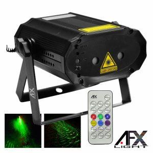 Laser 130mW Vermelho/Verde Firefly Comando Preto AFXLIGHT - (MINIRG-MULTI)