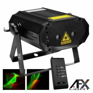 Laser 130mW Vermelho/Verde Firefly Comando Preto AFXLIGHT - (MINIRG-POLAR)