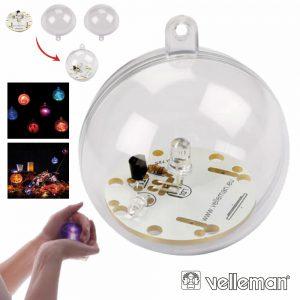 Kit Bola LED RGB C/ Sensor Luz Exterior VELLEMAN - (MK197)