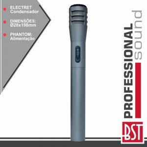 Microfone Condensador Electret 1.5v Phantom BST - (MKZ10)