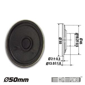 Altifalante Miniatura 0.5W 8 Ohm 50mm HQ POWER - (MLS1)