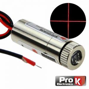 Módulo Laser Vermelho 3-5v 5mW Cruz PROK - (MLV467A)