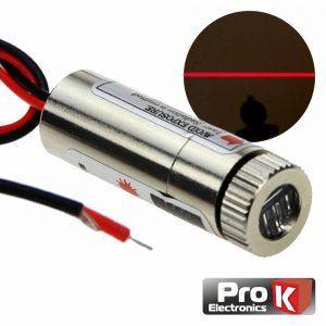 Módulo Laser Vermelho 3-5v 5mW Linha PROK - (MLV467B)
