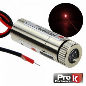 Módulo Laser Vermelho 3-5v 5mW Ponto PROK - (MLV467C)