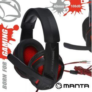 Auscultadores Gaming P/ Consola/Pc Jack MANTA - (MM016G)