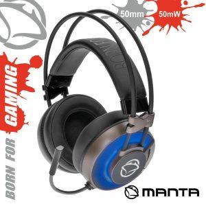 Auscultadores Gaming P/ Consola/Pc USB E Jack MANTA - (MM022G)