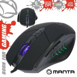 Rato Óptico 800/2400 Dpi USB P/ Gaming LED RGB MANTA - (MM784G)
