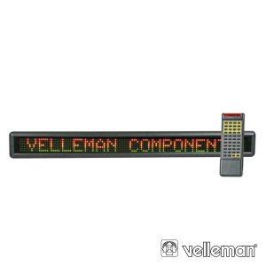 Placa Mensagem LED Multicor Comando 7x120 VELLEMAN - (MML24CN)