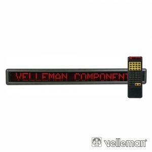 Placa Mensagem LED Vermelho Comando 7x120 VELLEMAN - (MML24R)