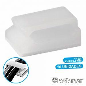 Passa Cabos C/ Adesivo 2.5x10.5mm 10X VELLEMAN - (MMP006)