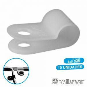 Passa Cabos C/ Ø5-5.5mm 10X VELLEMAN - (MMP007)