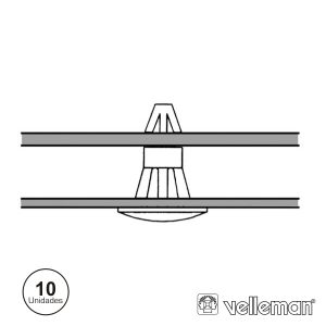 Suporte P/ Separadores Snap-In 10X VELLEMAN - (MMP303)