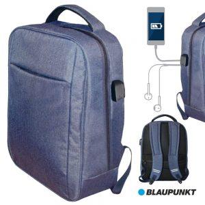 Mochila C/ Porta USB E Jack Azul BLAUPUNKT - (BLP0280.116)