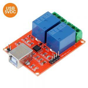 Módulo Relés USB 2 Canais 5v 10a - (MODREL086A)