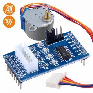 Motor Passo A Passo 5v C/ Controlador 48 Passos Arduino - (MODULE095)