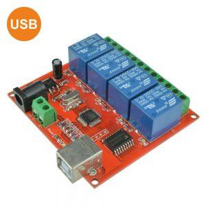 Módulo Relés USB 4 Canais 12V - (MODREL162A)