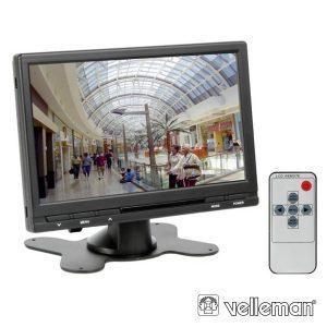 """Monitor Digital Tft-Lcd 7"""" C/ Comando Distancia 16:9 4:3 - (MON7T1)"""