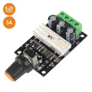 Regulador DC P/ Motores Contínuos PWm 6-28v 3a - (MOTPWM496A)