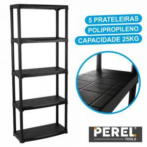 Estante P/ Arrumação Polipropileno 70x30x175.5cm Perel - (MP58N)