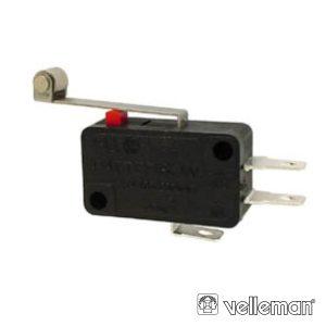 Comutador MicrosWitch 12a Patilha Grande C/ Rodizio VELLEMAN - (MS12-R)
