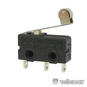Comutador Micro Switch C/Patilha E Rodizio 5a VELLEMAN - (MS5-R)
