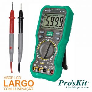 Multímetro Digital 3 5/6 Dígitos True Rms PROSKIT - (MT-1707)