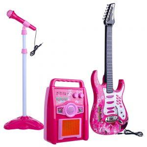 Conjunto de Instrumentos P/ Criança C/ Guitarra+Microfone - (MUSIC-KIT-01)