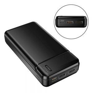 Powerbank 20000mAh C/ Ficha Micro USB / USB-C E 2USB-A - (MXPB-01-BK)