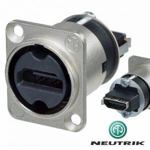 Ficha Adaptadora HDMI 19p Preto Neutrik - (NAHDMI-W)