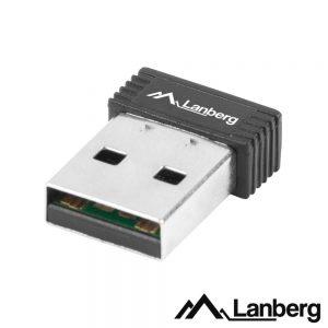 Adaptador USB Wifi Lan 802.11b/G/N 150mbps Wps LANBERG - (NC-0150-WI)