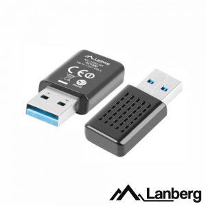 Adaptador USB Wifi Lan 802.11A/N/AC 1200mbps Wps LANBERG - (NC-1200-WI)