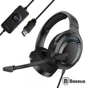 Auscultadores Gaming C/ Microfone 3D Sound BASEUS - (NGD05-01)