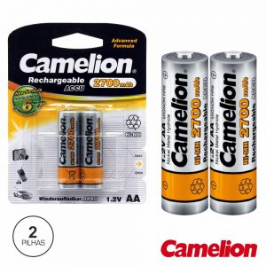 Bateria Ni-Mh AA 1.2V 2700ma 2x Blister CAMELION - (NH-AA2700BP2)