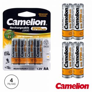 Bateria Ni-Mh AA 1.2V 2700ma 4x Blister CAMELION - (NH-AA2700BP4)