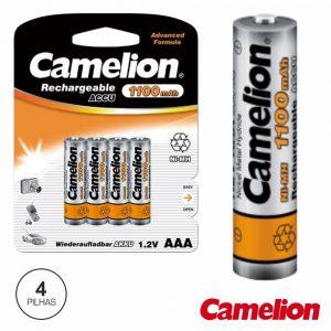 Bateria Ni-Mh AAA1.2V 1100ma 4x Blister CAMELION - (NH-AAA1100BP4)