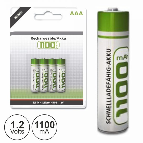 Bateria Ni-Mh AAA 1.2V 1100ma 4x Blister - (NIMHAAA02(A))