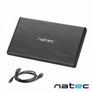 "Caixa Alumínio P/ Discos Rígidos HDD 2.5"" SATA II NATEC - (NKZ-0275)"