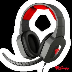 Auscultadores Gaming 7.1 Preto/Vermelho ARGON 400 GENESIS - (NSG-0687)