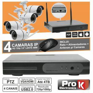 Vídeo-Gravador Digital Ip 4 Canais Wireless H264 PROK - (NVRPACK04AW)