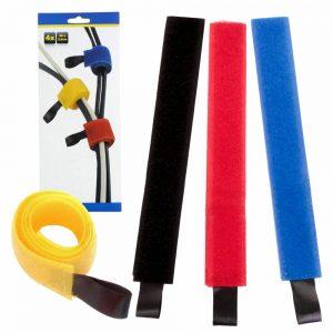 Conjunto 4 Fitas De Velcro P/ Organização Cabos - (OFT935)