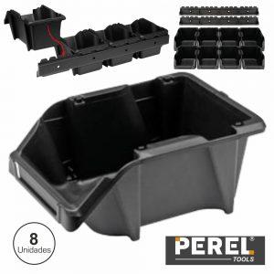 Caixa Arrumação Abs 103x165x75mm 8x C/ 2 Suportes Perel - (OMSB10SET)