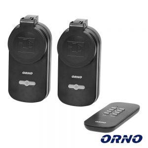 Conjunto 2 Tomadas Elétricas C/ Comando S/ Fios ORNO - (OR-GB-429(GS))